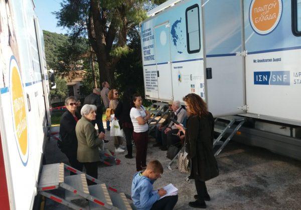 Οι Κινητές Ιατρικές Μονάδες στη Μοσιά Ορεινής Κορινθίας για δωρεάν παροχή ιατρικών υπηρεσιών