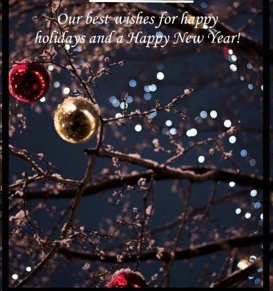 Με τις θερμότερες ευχές μας Καλές γιορτές & Ευτυχισμένο το Νέο Έτος